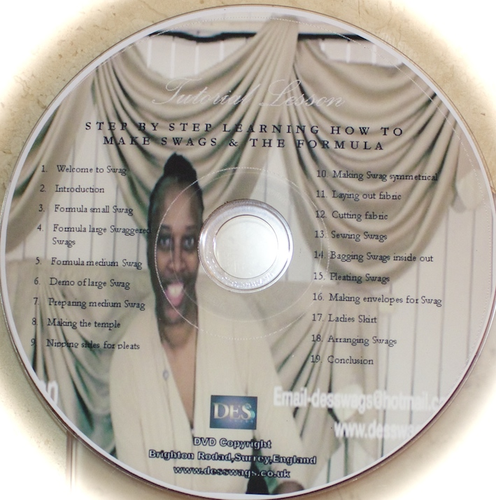 Step by step Instructions How to make Swags DVD