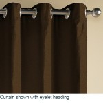 Eyelet Curtains on Poles